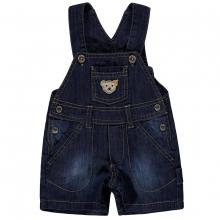 Steiff Baby Jeans Latzbermuda Ju. - jeans-blau used look