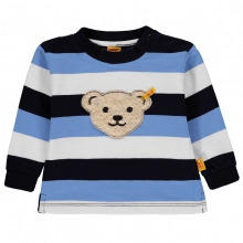 Steiff Baby Sweatshirt Ju. blaue Blockr.