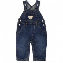 Steiff Basic Jeans Latzhose - jeans-blau