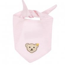 Steiff Basic Jersey Halstuch, geringelt - rosa