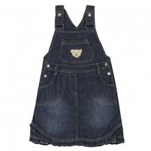 Steiff Basic Jeans Latzrock - jeans-blau