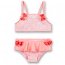 Sanetta Bikini Stoffblumen,feingestreift