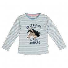 Salt & Pepper Shirt Streifen ` Pferde` - blau