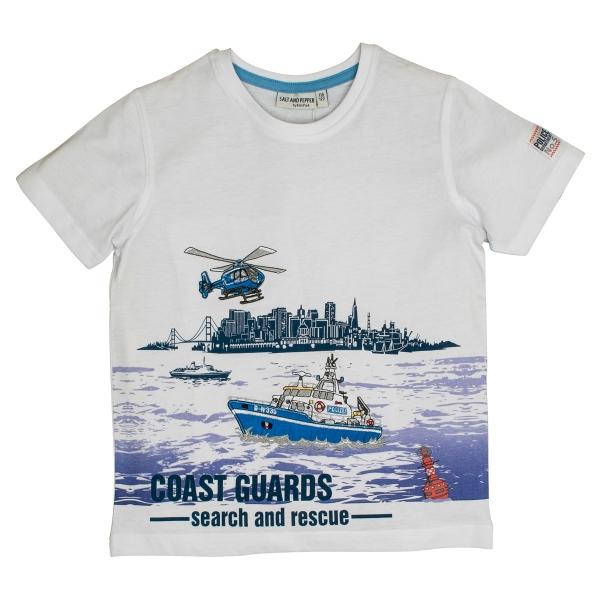 Salt & Pepper T-Shirt Polizist Stickerei