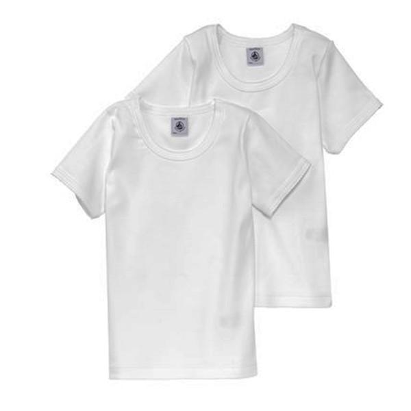 Petit Bateau Mä T-Shirt, weiß 2er