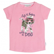 Salt & Pepper T-Shirt Hund u. Glitzer