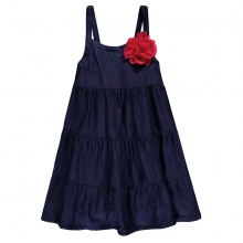 Königsmühle Kleid o. Arm jeans mit Blume