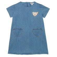 Steiff Jeans Kleid Punkte Taschen