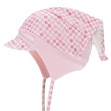 Döll Kopftuchmütze Schirm+Binde  Punkte