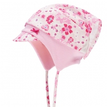 Döll Kopftuchmütze Schirm + Binden Blume