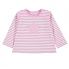 Bellybutton Baby Shirt lg.Arm Mäd.Stern - pink rosa