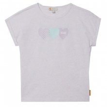 Steiff T-Shirt Mäd.bund Meliert Herzen