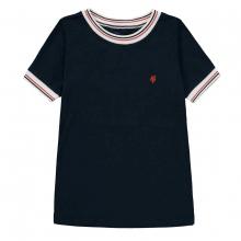 Marc O` Polo T-Shirt uni Ringelkragen