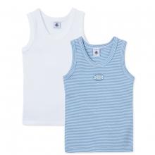 Petit Bateau Ju Hemd blau/weiß,2er Pack.