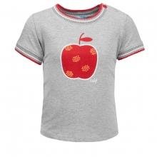 Lief! T-Shirt Apfel Motiv.Ringelbündchen