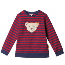 Steiff Sweatshirt Ju.red or blue Ringel