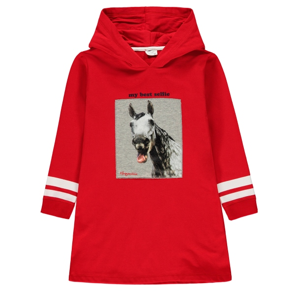 Königsmühle Kleid lg.Arm Pferd Kapuze