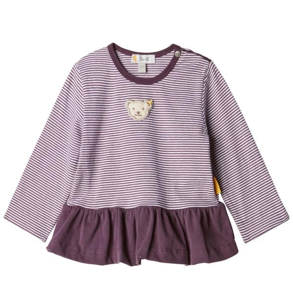 Steiff Baby T-Shirt lg.Arm Ringel Rüsche
