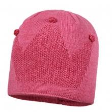 Maximo Strick Mütze Krone pink