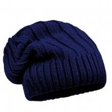 Maximo Strick Rippbeanie blau