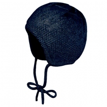 Maximo Strick Babymütze blau