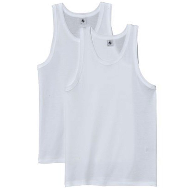 Petit Bateau Jungen Unterhemd weiß, 2er