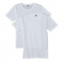 Petit Bateau T-Shirt weiß, 2er Pack