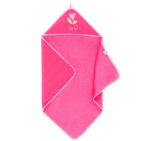 Lief! Badetuch pink Kapuze