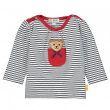 Steiff Baby T-Shirt lg.Arm Tasche Ringel