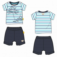 Steiff Set Shorts+T-Shirt Ju. Palme