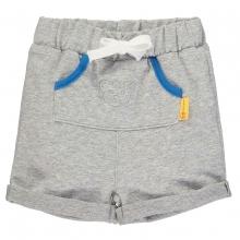 Steiff Baby Sweat Shorts Ju.Tasche grau