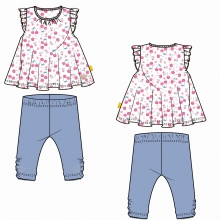 Steiff Baby Set Leggings+Shirt o.Arm Mäd
