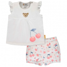 Steiff Baby Set Shorts+Shirt o.Arm Mäd.