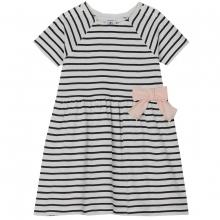 Petit Bateau Kleid geringelt