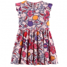 Petit Bateau Kleid Blütenmeer Flügelarm