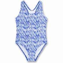 Sanetta Badeanzug blau-weiß Muster