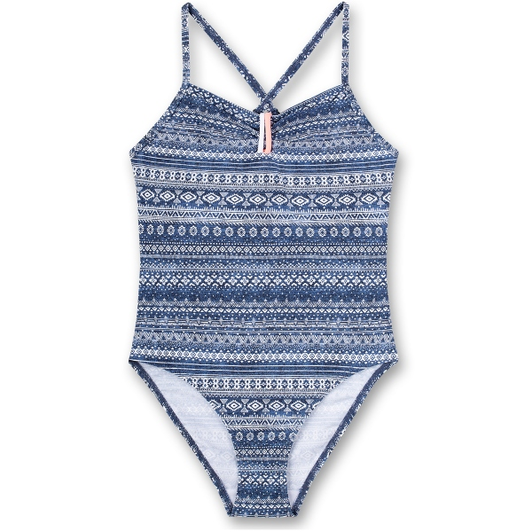 Sanetta Badeanzug Vintage blau Muster