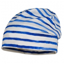 Maximo Beanie blau geringelt
