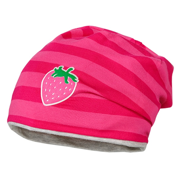 Maximo Beanie Mäd. Ringel Erdbeere