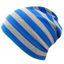 Maximo Beanie Ju. grau-blau Ringel