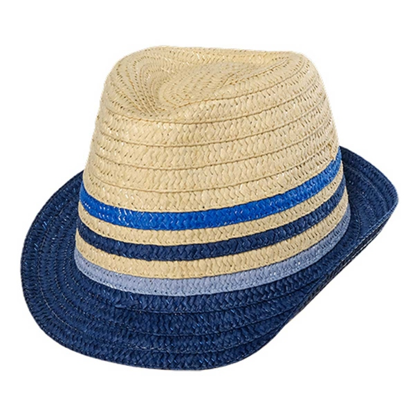 Maximo Stroh Hut pinke Streifen