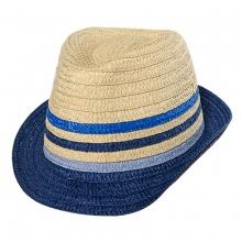 Maximo Stroh Hut Ju. blaue Streifen