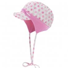 Döll Baby Binde-Schirmmütze pinke Punkte