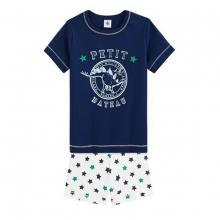 Petit Bateau Schlafanzug kurz Dino