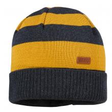 Maximo Strick Mütze grau-gelb