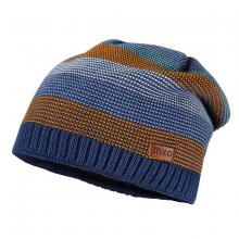 Maximo Mütze Beanie blau-orange Ringel