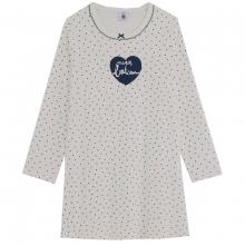 Petit Bateau Mä Nachthemd lg.Arm Herz