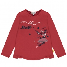 Steiff T-Shirt lg.Arm Mäd.Snowboard Bär