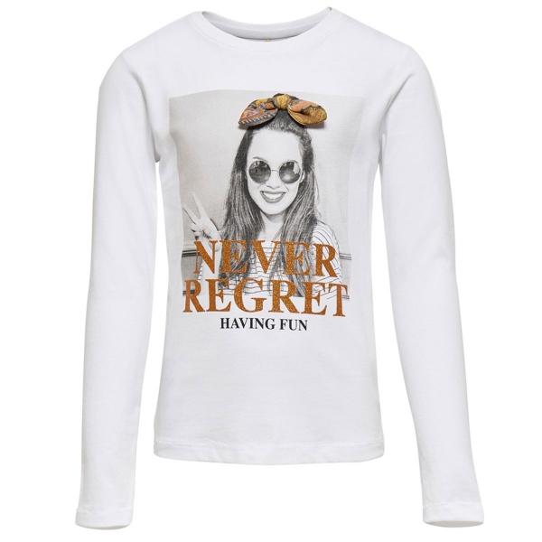 Kids Only Shirt lg.Arm Gesicht Never....
