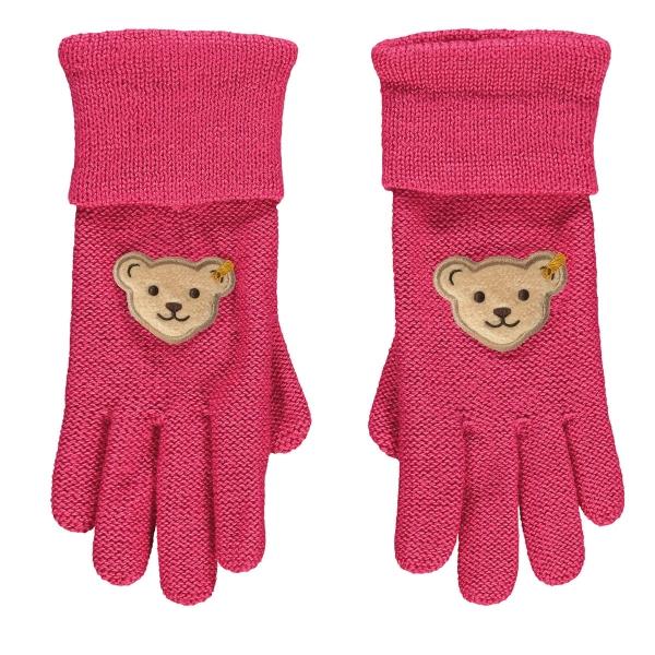 Steiff Strick Handschuhe Mäd.Karminpink